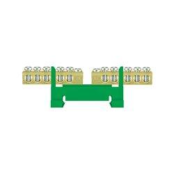 Listwa zaciskowa LZ 10 dzielona 2x5/Z, 2x5x16mm2, mocowana na szynę, zielona, opakowanie 10 szt.